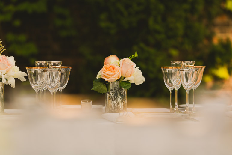 beautiful flower settings foundry wedding